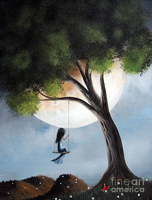 Fantasy Tree Art Painting - Time Alone By Shawna Erback by Shawna Erback
