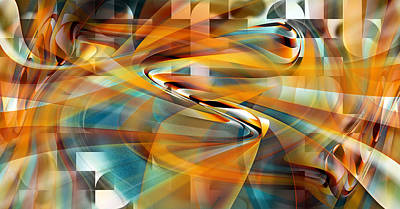 Art Print featuring the digital art Time And Space by rd Erickson