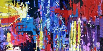 Abstract Expressionism Painting - Time by Anthony Falbo