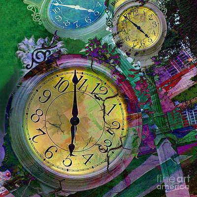 Digital Art - Time by Claudia Ellis