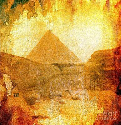 Time Fears The Pyramids Art Print