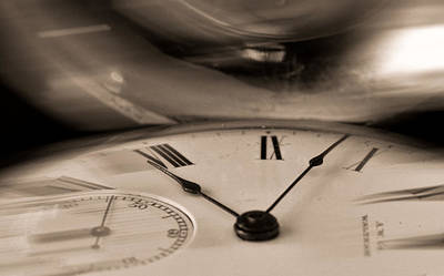 Photograph - Time Flies By Bw by Don Schwartz