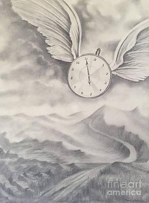 Painting - Time Flies by Randol Burns