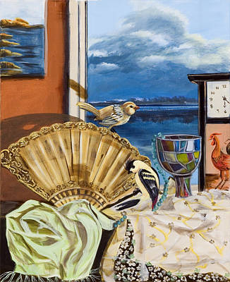 Art Print featuring the painting Time Flies by Susan Culver