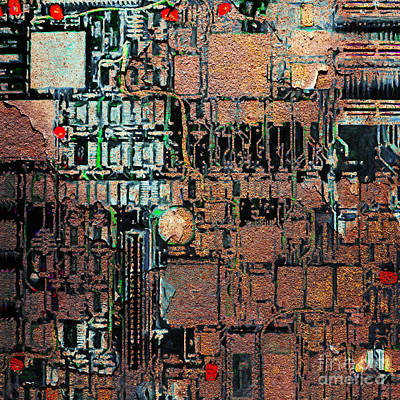 Time For A Motherboard Upgrade 20130716 Square Art Print by Wingsdomain Art and Photography