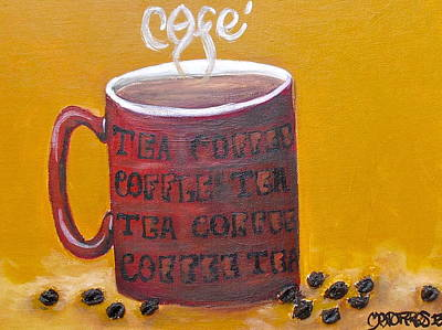 Time For Coffee Art Print by Melissa Torres