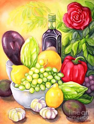 Painting - Time For Fruits And Vegetables by Inese Poga