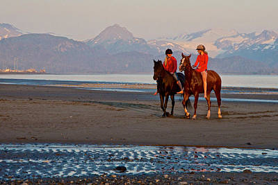Time For Talking And Walking On Homer Spit-alaska Original by Ruth Hager