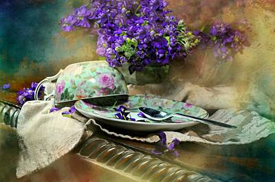 Lilacs And Flowers Photograph - Time For Tea by Diana Angstadt