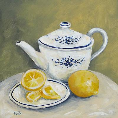 Teapot Painting - Time For Tea by Torrie Smiley