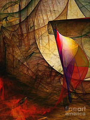 Time Fuse-abstract Art  Art Print