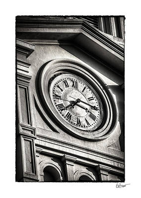 Time In Black And White Art Print by Brenda Bryant
