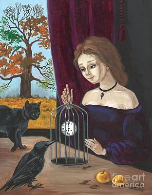Ryta Painting - Time In The Cage by Margaryta Yermolayeva