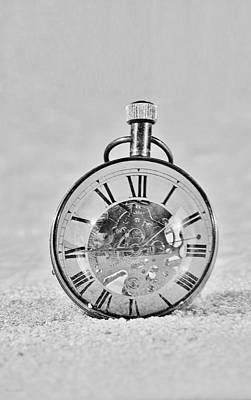 Time Peice Photograph - Time In The Sand In Black And White by Rob Hans