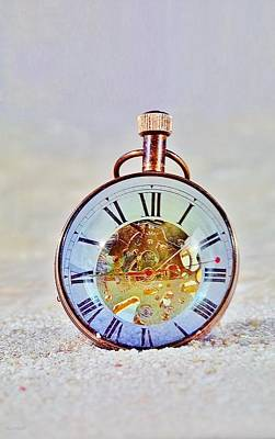 Time Peice Photograph - Time In The Sand by Rob Hans