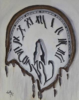 Painting - Time Is Just Melting By by Kelly Mills