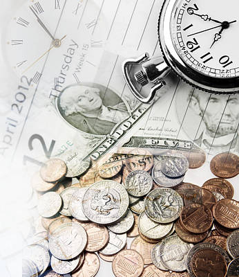 Finance Photograph - Time Is Money Concept by Les Cunliffe