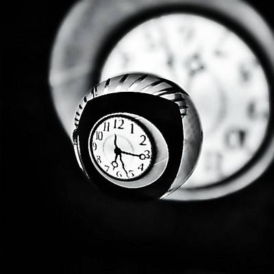 Number Circle Photograph - Time Is Up... by Marianna Mills