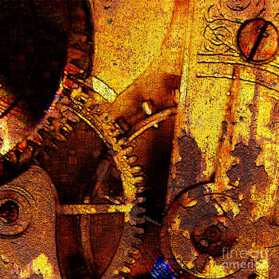 Time Keeps On Slipping Into The Future 20130716 Square Art Print by Wingsdomain Art and Photography