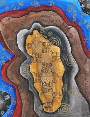 Regeneration Painting - Time Layers by Diana Perfect