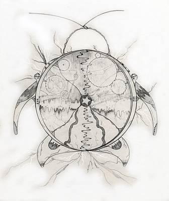 Drawing - Time Machine by Jason Girard