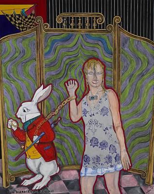 Alice In Wonderland Painting - Time Management Seminar by Darlene Graeser