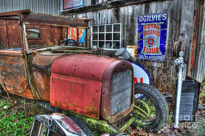 Old Trucks Photograph - Time Marches On by Bob Christopher