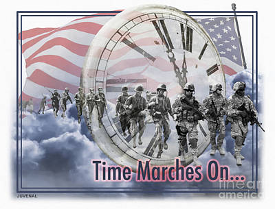 Memorial Day Mixed Media - Time Marches On by Joseph Juvenal