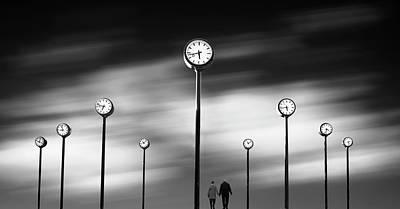 Clock Wall Art - Photograph - Time by Maurits De Groen