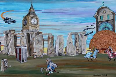 Stonehenge Painting - Time by Mike Nahorniak