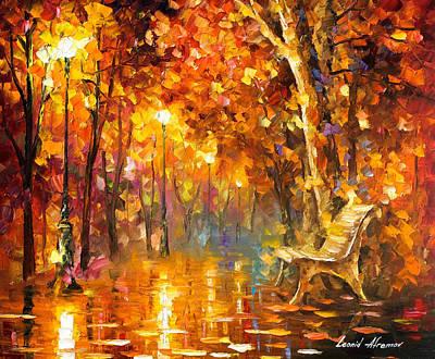 Time Never Ends - Palette Knife Oil Painting On Canvas By Leonid Afremov Original
