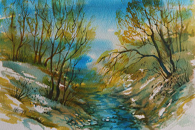 Thawing Time Painting - Time Of Spring-1 by Khromykh Natalia