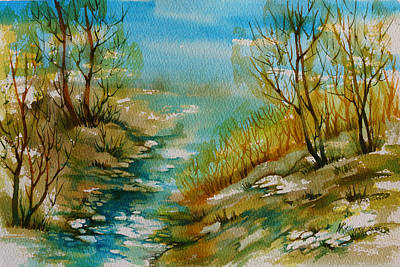 Thawing Time Painting - Time Of Spring by Khromykh Natalia