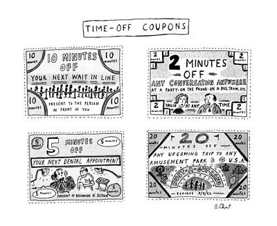 Time-off Coupons Art Print