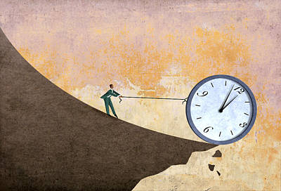 Aging Digital Art - Time On The Edge by Steve Dininno