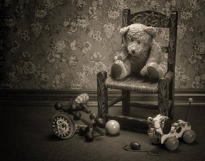 Clowns Photograph - Time Out - A Teddy Bear Still Life by Tom Mc Nemar