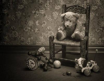 Clown Wall Art - Photograph - Time Out - A Teddy Bear Still Life by Tom Mc Nemar
