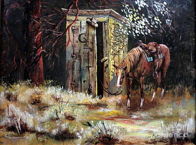 Roping Horse Painting - Time Out by Lee Piper