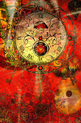 Time Passes Art Print by Ally  White