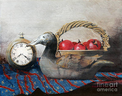 Egg Tempera Painting - Time Passes by Monte Toon