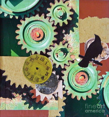 Mixed Media - Time by Patricia  Tierney