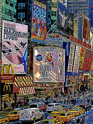 Time Square New York 20130430v3 Print by Wingsdomain Art and Photography