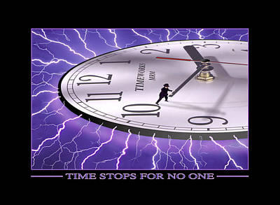 Surrealism Royalty-Free and Rights-Managed Images - Time Stops For No One by Mike McGlothlen