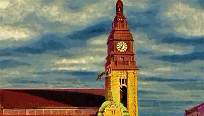 Clocks Painting - Time To Go by Jeffrey Kolker