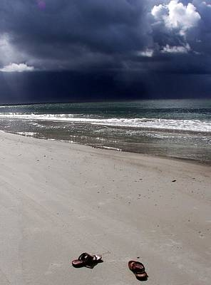 Ocean Storm Photograph - Time To Go by Karen Wiles