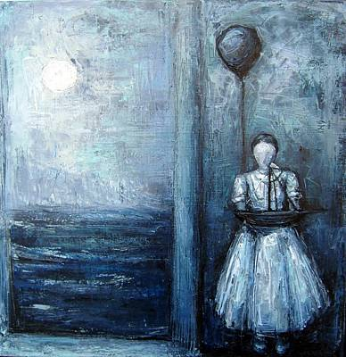 Baloon Painting - Time To Go by Margarita Souleiman