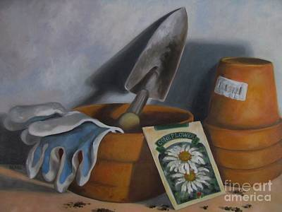 Painting - Time To Plant by Karen Olson