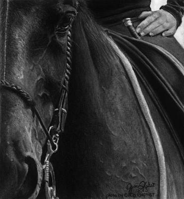 Dressage Drawing - Time To Process by Janicia West