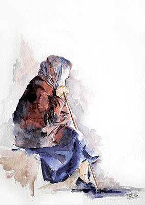 Watercolor Painting - Time To Reflect by Stephie Butler