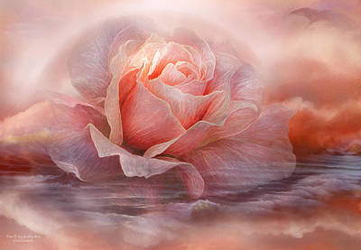 Etherial Mixed Media - Time To Say Goodbye Rose by Carol Cavalaris